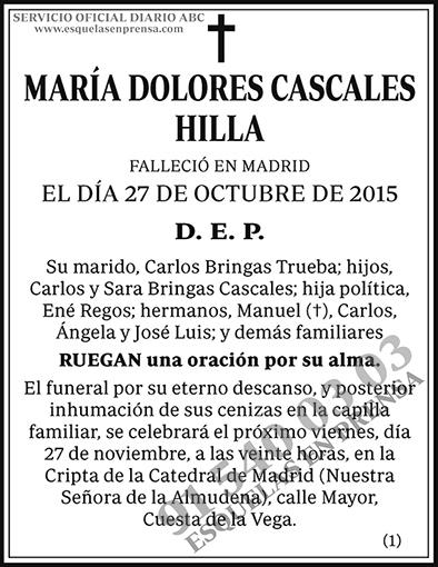 María Dolores Cascales Hilla